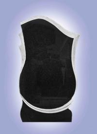 Эксклюзивный памятник из карельского гранита Ветка клена с крестом