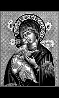 """Икона на памятник""""Владимирская икона Божией Матери"""""""