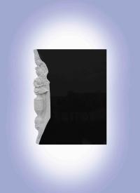 Памятник из гранита Габбро-диабаз (Карелия) Розы внизу