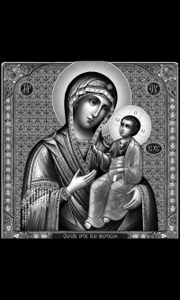 """Икона на памятник """"Иверская икона Божией Матери"""""""