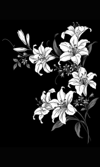 Гравировка цветов на памятник № 14