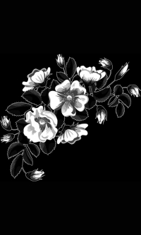 Гравировка цветов на памятник № 21