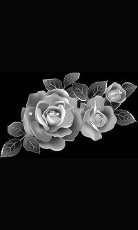 Гравировка цветов на памятник № 24