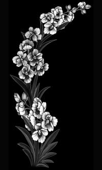 Гравировка цветов на памятник № 26