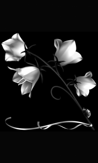 Гравировка цветов на памятник № 28