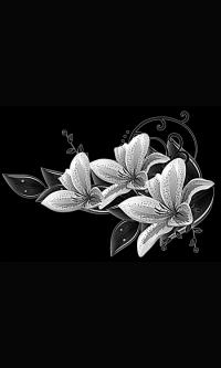 Гравировка цветов на памятник № 4