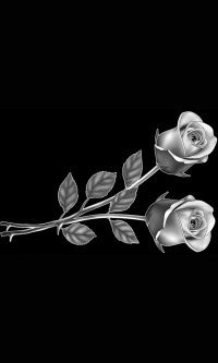 Гравировка цветов на памятник № 5