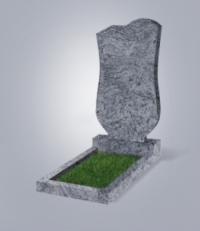 Памятник из голубого гранита № 15