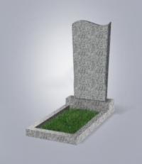Памятник из светло-серого гранита № 13