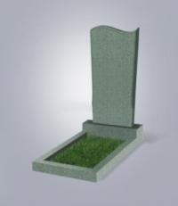 Памятник из зеленого гранита № 13