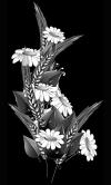 Гравировка цветов на памятник № 11