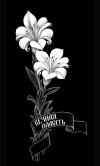 Гравировка цветов на памятник № 15