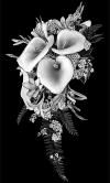 Гравировка цветов на памятник № 18