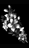 Гравировка цветов на памятник № 22