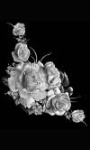 Гравировка цветов на памятник № 29