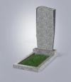 Памятник из светло-серого гранита № 21